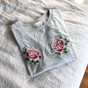 H&M Floral Patch Shirt S